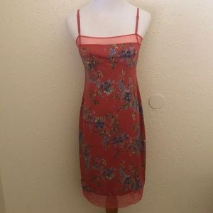 BCBG Floral dress.